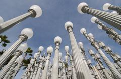 Stock Photo of Urban Light by Chris Burden, Los Angeles County Museum of Art, Los Angeles, Los