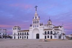 Ermita del Rocio, El Rocio, Huelva Province, Costa de la Luz, Andalusia, Spain Stock Photos