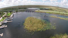 Everglades national park aerial view Stock Footage