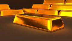 Animated fine bar of gold around 360 2 Stock Footage