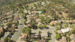 2.7K Aerial Westlake Village Clip 15 Suburban Homes Lowering APR 00.19 #G10100 Stock Footage