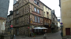 Half timbered buildings - Rue du Chapitre - Rennes France - HD 4K+ Stock Footage