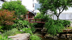 lujia village,garden,dwellings,guilin, - stock footage