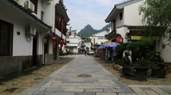 lujia village,dwellings,guilin, - stock footage
