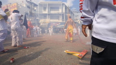 Vegetarian Nine Emperor Gods Festival Stock Footage