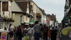 St. Peter's Street, Westgate, Canterbury, Kent, England Stock Footage