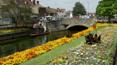 Westgate Bridge, River Stour, Canterbury, Kent, England Stock Footage