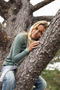 Woman, Bolinas, Marin County, California, USA - stock photo