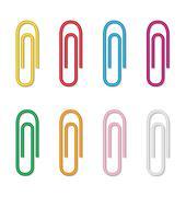 eight clips - stock illustration