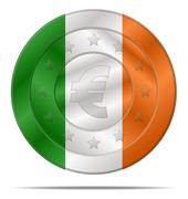 Euro currency with ireland flag Stock Illustration