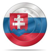 Euro currency with slovakia flag Stock Illustration