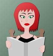 Woman reading Stock Illustration