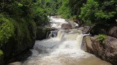 """Waterfall names """"Nang Rong"""", National Park, Nakhon Nayok Thailand Stock Footage"""