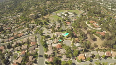 Aerial Shot of Westlake Village Homes Stock Footage