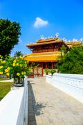 wehart chamrunt palace in bang pa-in palace, ayutthaya, thailand. - stock photo