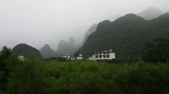 misty mountain,yangshuo - stock footage