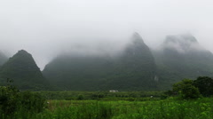 Misty mountain,yangshuo Stock Footage