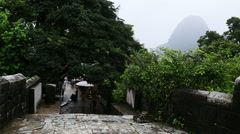 Yulong bridge at yangshuo Stock Footage