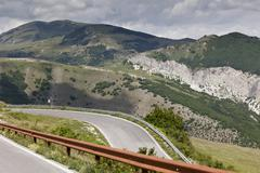 Stock Photo of Mountain Road, Apennines, Montefeltro, Marches, Italy