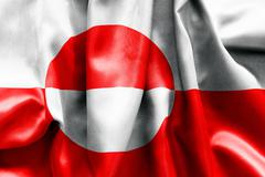 Stock Illustration of greenland flag