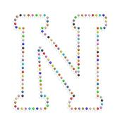 Letter n with clips Stock Illustration