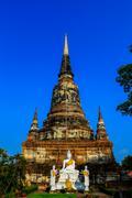 Wat yai chaimongkhon at ayutthaya,thailand. Stock Photos