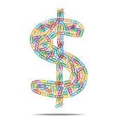Dollar symbol clips Stock Illustration