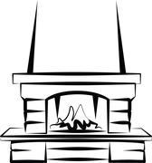 Fireplace Stock Illustration