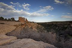 Hovenweep Castle, Little Ruin Canyon, Hovenweep National Monument, Utah, USA Stock Photos