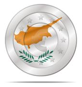 Euro currency with cyprus flag Stock Illustration