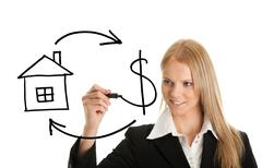 real estate and cash concept - stock photo