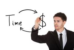 Stock Photo of time is money concept