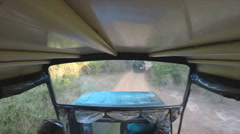View from moving Jeep during safari in Yala National Park. Stock Footage