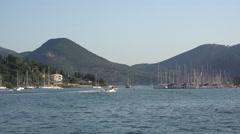 Touristic sea harbor  Stock Footage