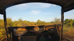 View from moving Jeep during safari in Yala National Park. - stock footage