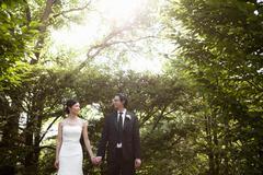 Bride and Groom, Ontario, Canada Stock Photos