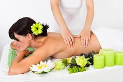 Stock Photo of young woman at spa saloon
