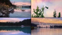 Lake Resort Montage Stock Footage