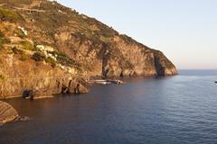 Via dell'Amore, Riomaggiore, Cinque Terre, Province of La Spezia, Liguria, Italy Stock Photos