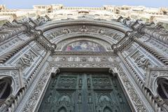 Entrance, Basilica di Santa Maria del Fiore, Florence, Firenze Province, - stock photo