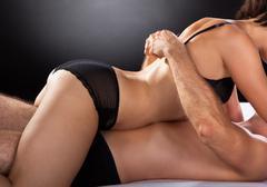 Close-up of couple having sex Stock Photos