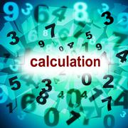 Calculate counting meaning one two three and numeric counter Stock Illustration