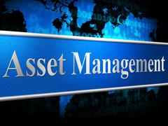 Asset management representing business assets and directors Stock Illustration