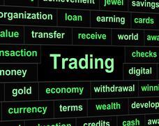 Trade trading indicating buying e-commerce and import Stock Illustration