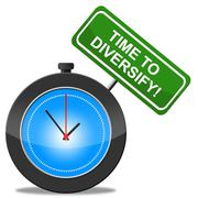 Stock Illustration of time to diversify indicating mixed bag and multi-cultural