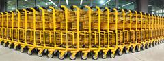 Shopping Carts at Mega Store - stock photo