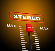 stereo music indicating hi fidelity and graphical - stock illustration