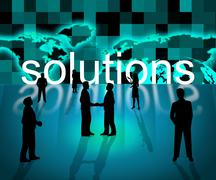 solutions business indicating succeed achievement and commercial - stock illustration