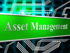 Stock Illustration of asset management meaning administration authority and company
