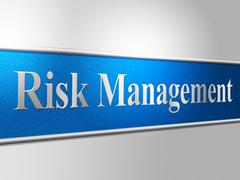 Management risk meaning bosses administration and insecure Stock Illustration